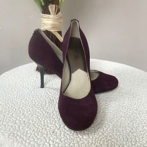 Purple Suede MICHAEL KORS Pressley Pumps Size 8